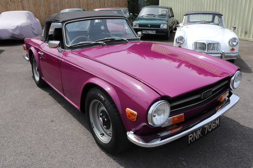 1973 Triumph TR6 in Magenta SOLD (picture 1 of 5)