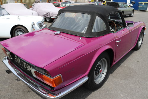 1973 Triumph TR6 in Magenta SOLD (picture 3 of 5)