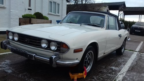 1975 TRIUMPH STAG MKII 3.0 V8 MANUAL O/D ~ LOTS OF POTENTIAL SOLD (picture 2 of 6)