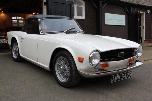 1969 TRIUMPH TR6 WHITE MANUAL  For Sale (picture 1 of 6)