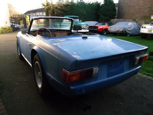 1974  TR6 Left Hand Drive, For Restoration, Engine Runs Well SOLD (picture 2 of 6)