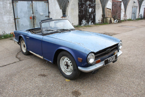 TRIUMPH TR6 1969 ORIGINAL 150 BHP RHD CAR WITH OVERDRIVE FOR SOLD (picture 2 of 6)