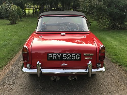 Triumph TR5 1969 in Signal Red, Stunning. SOLD (picture 4 of 6)