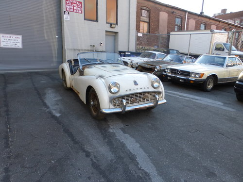 1958 Triumph TR3A Complete Car For Restoration- For Sale (picture 1 of 6)