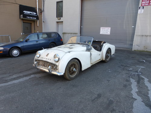 1958 Triumph TR3A Complete Car For Restoration- For Sale (picture 3 of 6)