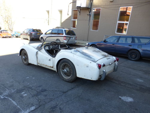 1958 Triumph TR3A Complete Car For Restoration- For Sale (picture 4 of 6)