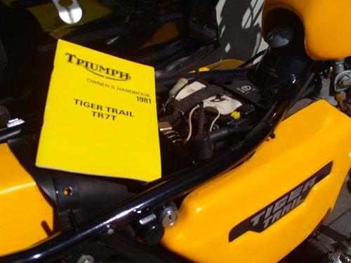 1981 TRIUMPH TIGER TRAIL TR7T  SOLD (picture 6 of 6)