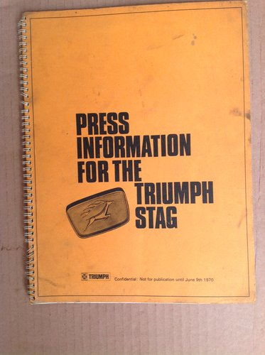 Triumph Stag Press Information 1970  For Sale (picture 1 of 3)
