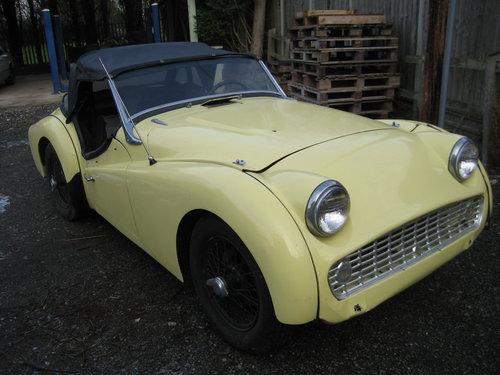 1958 Triumph TR3a SOLD (picture 1 of 6)
