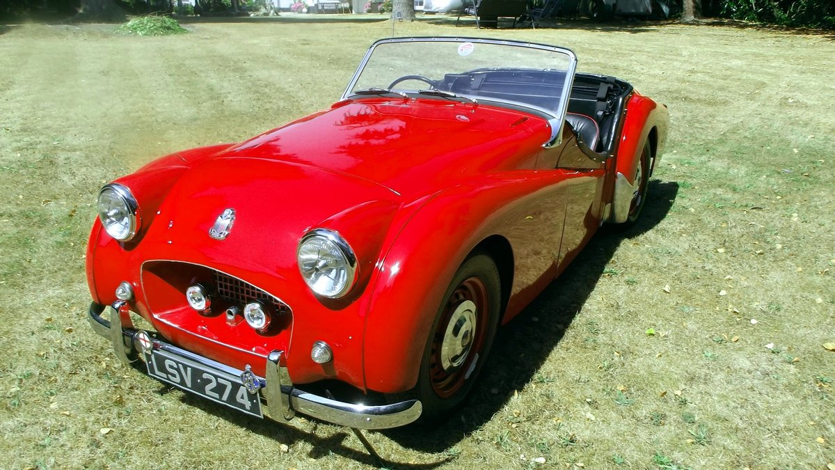 1954 TRIUMPH TR2 SPORTS ROADSTER CONV Small Mouth, Long Door SOLD (picture 1 of 6)