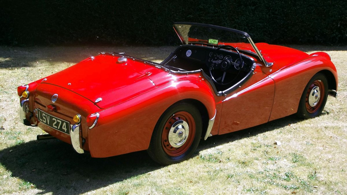 1954 TRIUMPH TR2 SPORTS ROADSTER CONV Small Mouth, Long Door SOLD (picture 2 of 6)