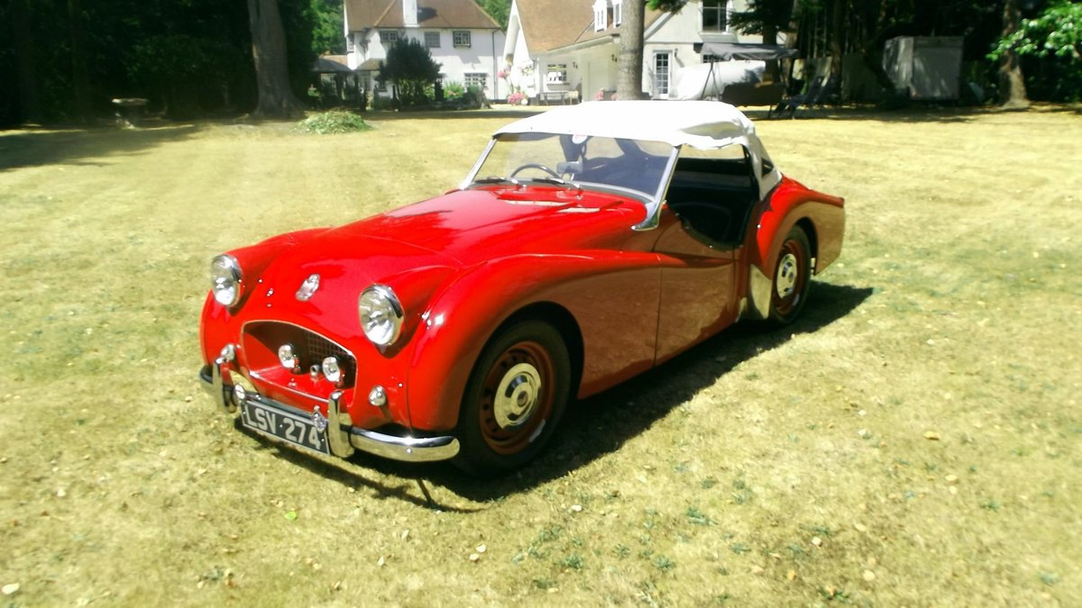 1954 TRIUMPH TR2 SPORTS ROADSTER CONV Small Mouth, Long Door SOLD (picture 6 of 6)