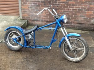 1972 Triumph T100R based custom rolling chassis SOLD