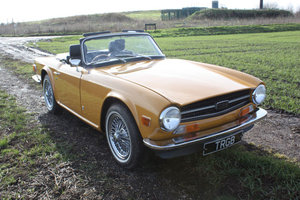 TR6 1972 ORIGINAL UK FUEL INJECTED CAR WITH OVERDRIVE IN SAF SOLD