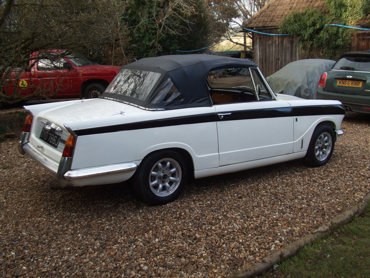 1971 VITESSE CONVERTIBLE MK2 86K HISTORY LOVELY CAR SOLD (picture 2 of 6)