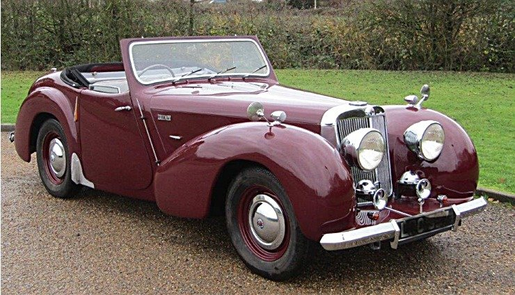 Stunning 1947 Triumph 1800 Roadster Coupe For Sale (picture 1 of 6)