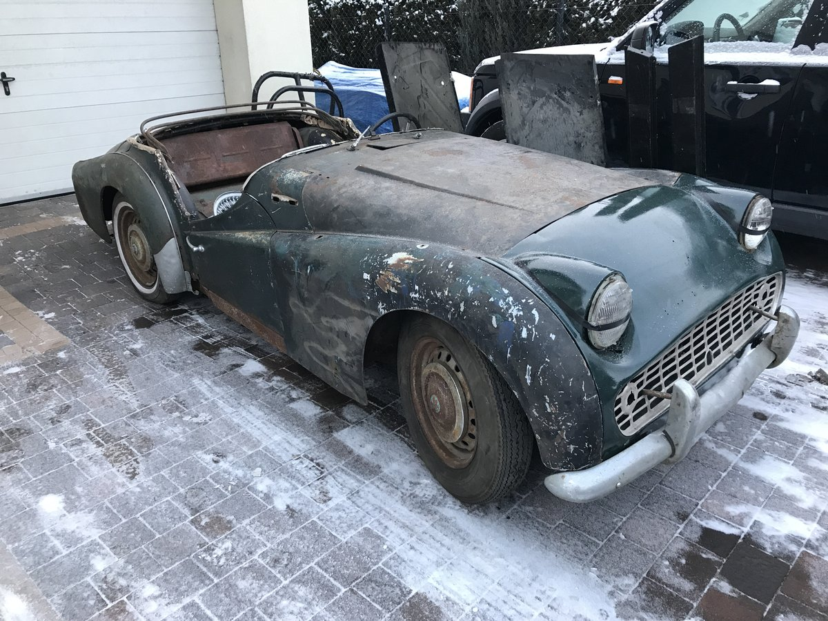 1958 TR3a for restoration , with factory steel hardtop SOLD (picture 1 of 1)