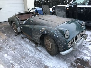 1958 TR3a for restoration , with factory steel hardtop SOLD