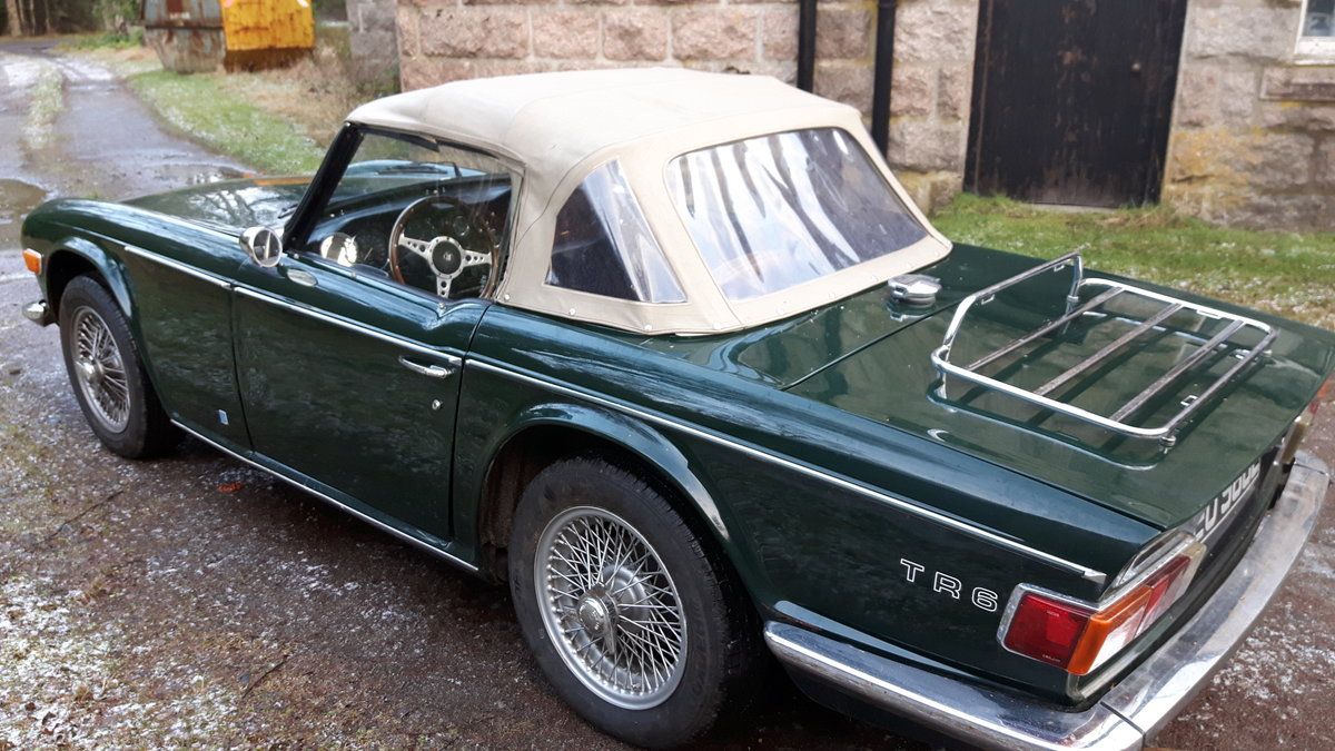 1972 Triumph TR6 British Racing Green For Sale (picture 1 of 6)