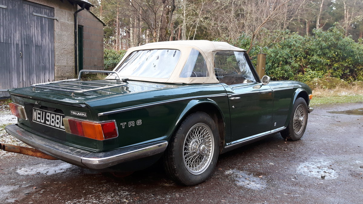 1972 Triumph TR6 British Racing Green For Sale (picture 5 of 6)