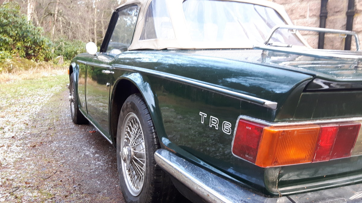 1972 Triumph TR6 British Racing Green For Sale (picture 6 of 6)