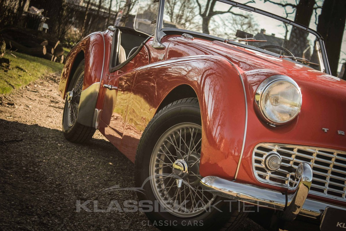 1958 Beautiful Triump TR3A in very good condition For Sale (picture 3 of 6)