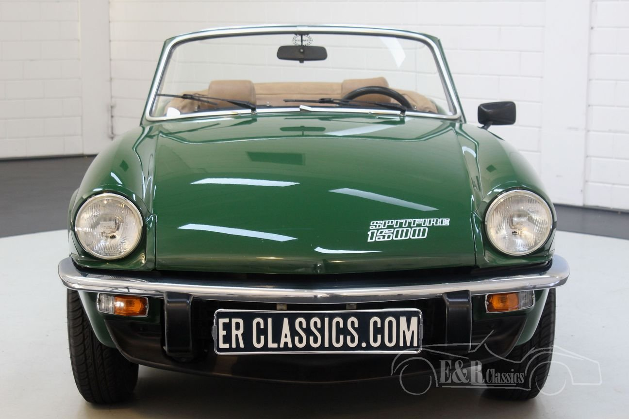 Triumph Spitfire 1500 Cabriolet 1981 British Racing Green For Sale (picture 5 of 6)