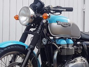 2002 Triumph Bonneville 790 02 21K Tested with Video Vintage styl