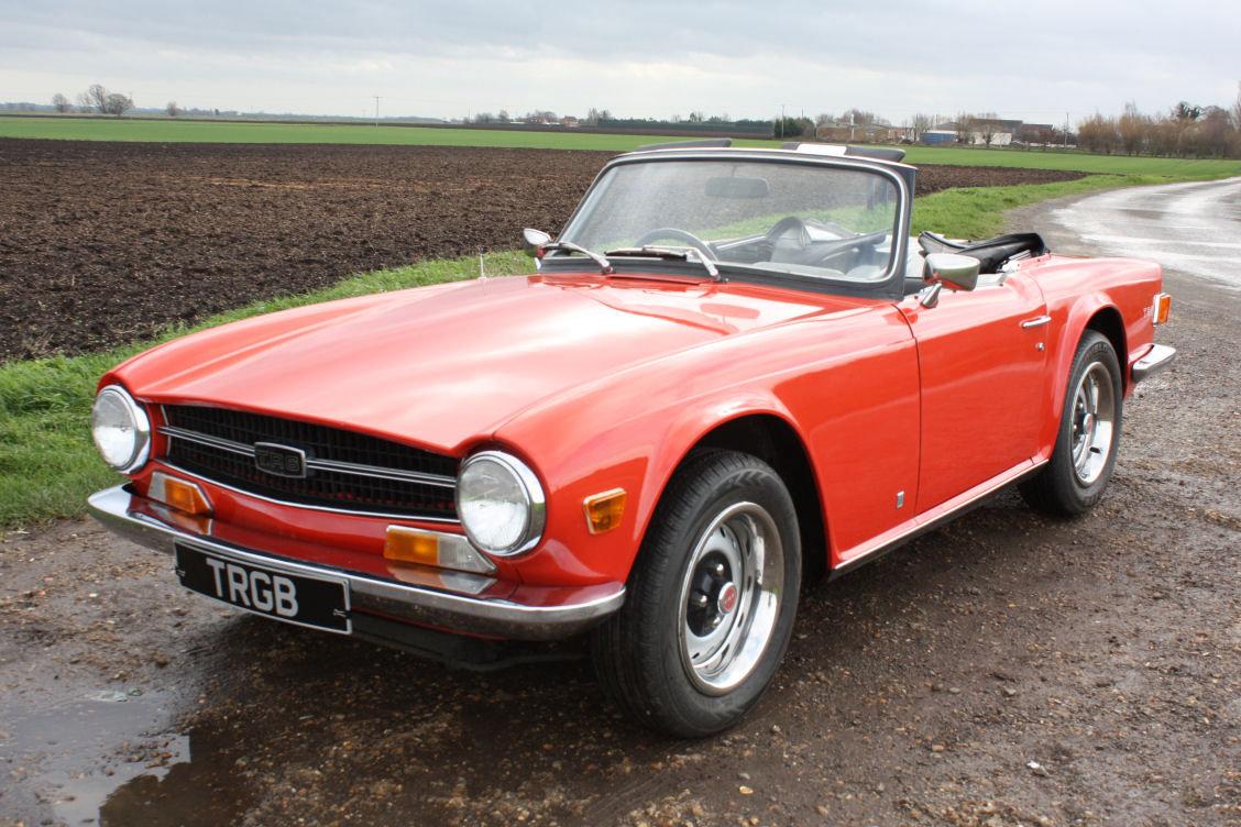 1972 TRIUMPH TR6 ORIGINAL 150BHP UK CAR IN RED SOLD (picture 1 of 6)