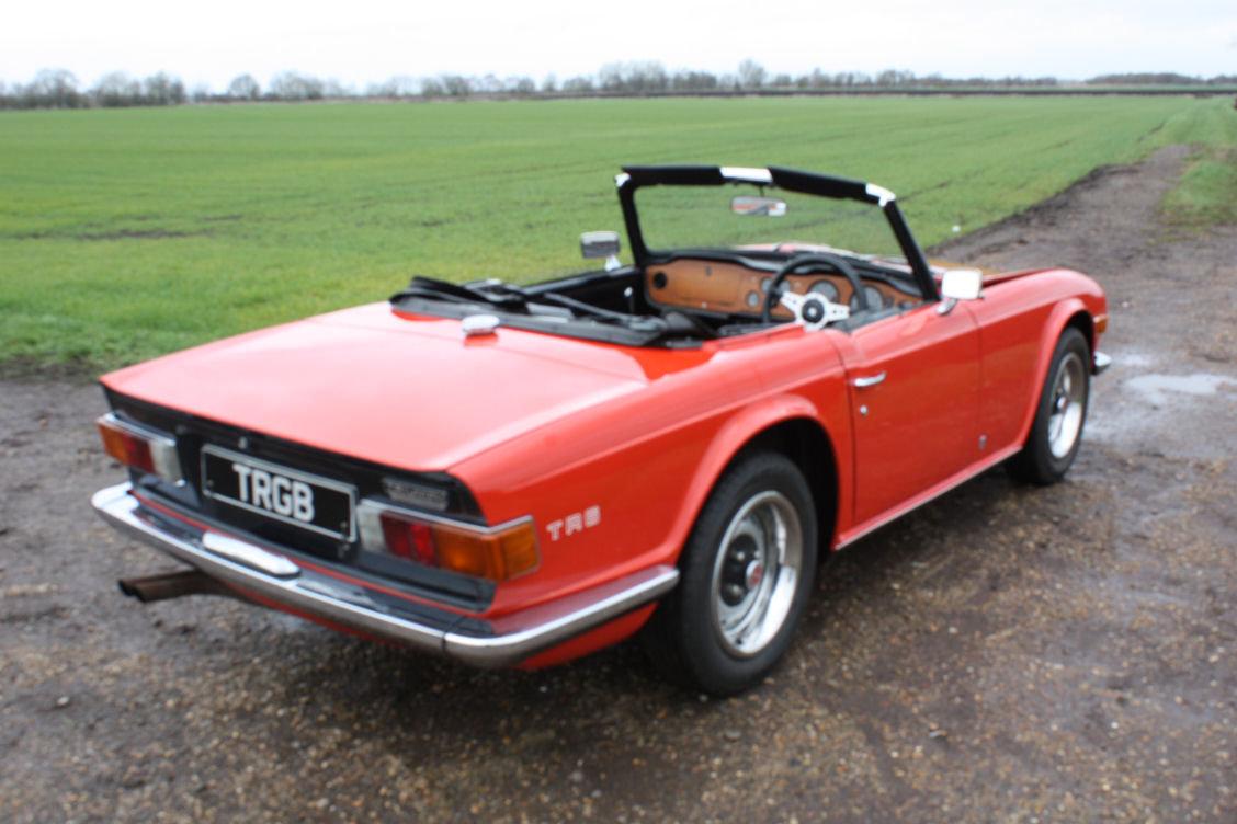 1972 TRIUMPH TR6 ORIGINAL 150BHP UK CAR IN RED SOLD (picture 3 of 6)