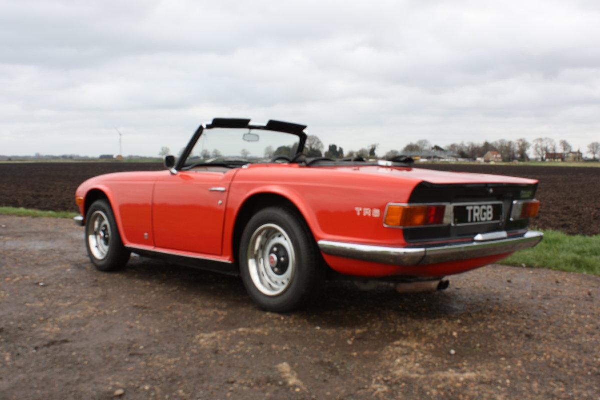 1972 TRIUMPH TR6 ORIGINAL 150BHP UK CAR IN RED SOLD (picture 4 of 6)
