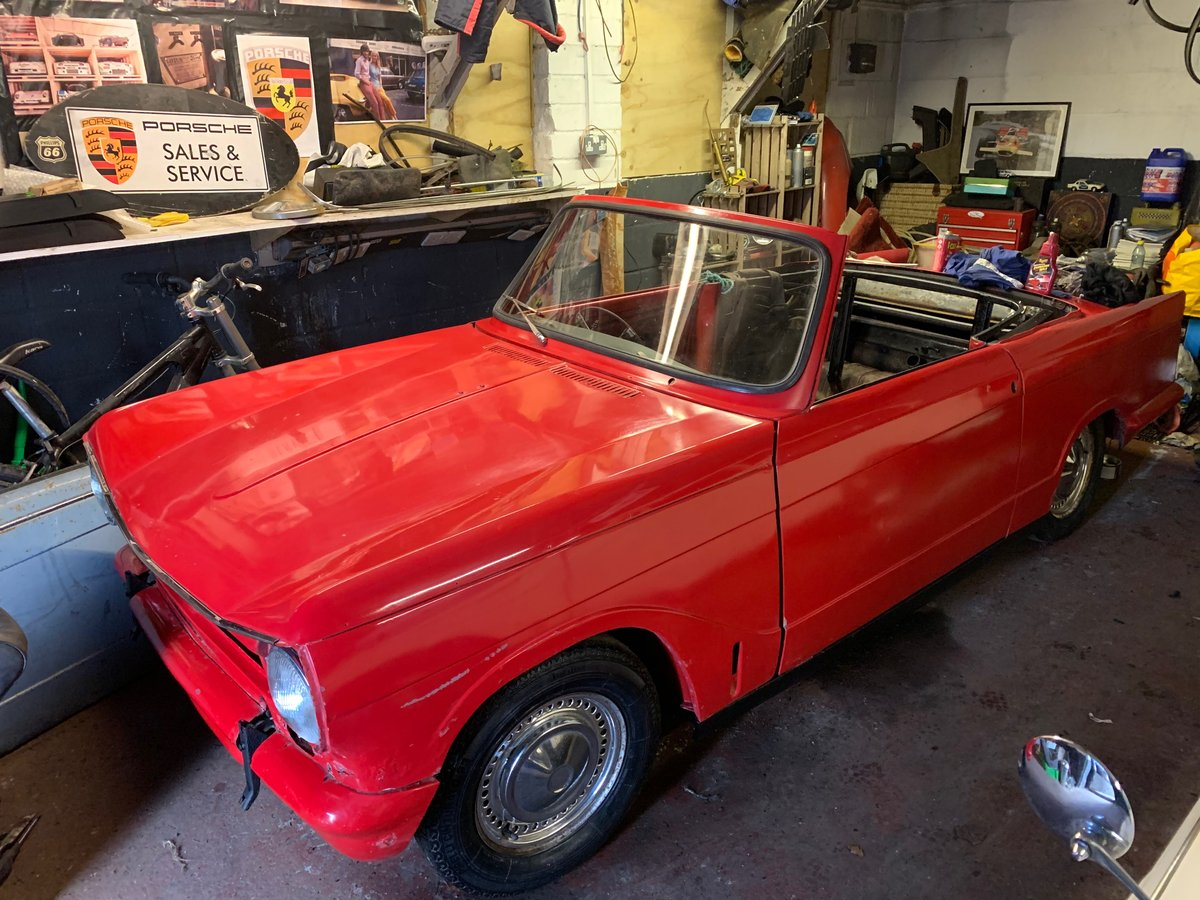 1971 Triumph Herald Convertible, 13/60, light project For Sale (picture 1 of 6)