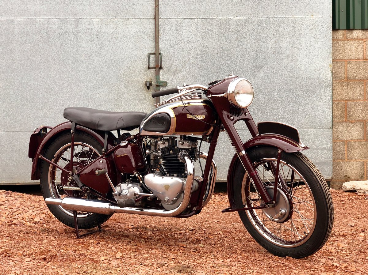 1949 Triumph 5t Speed Twin 500cc A Very Rare Year   Sold