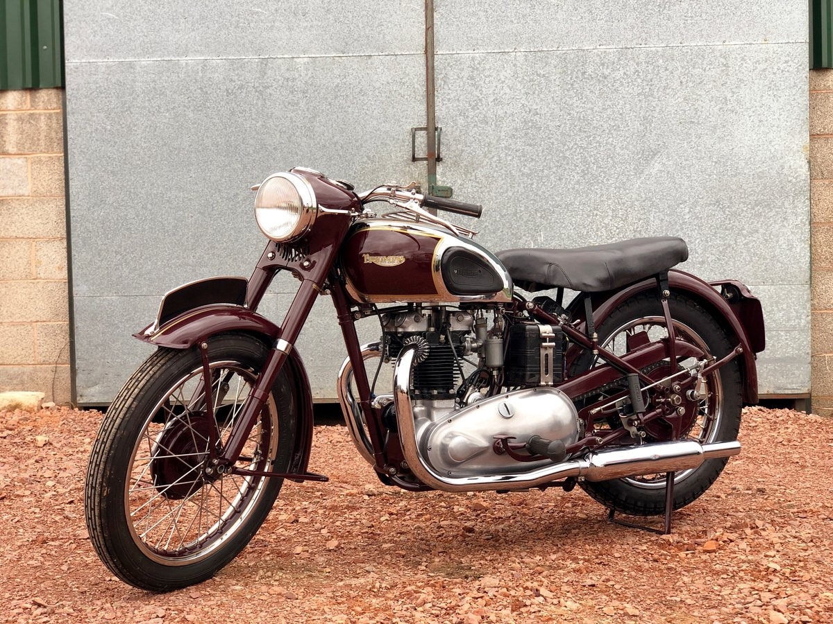 1949 Triumph 5T Speed Twin 500cc A Very Rare Year ! SOLD (picture 2 of 6)