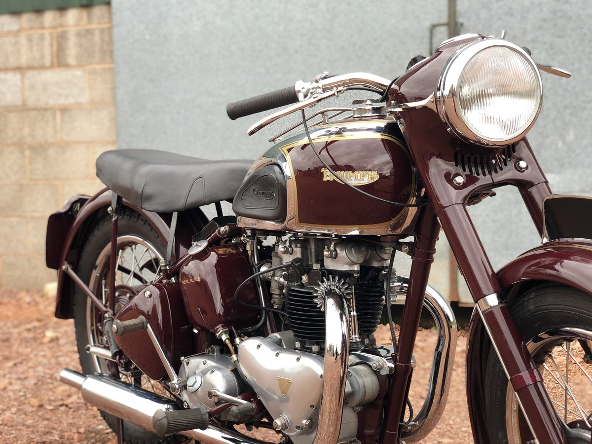 1949 Triumph 5T Speed Twin 500cc A Very Rare Year ! SOLD (picture 3 of 6)