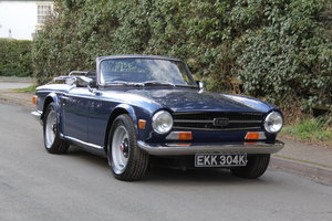 1971 Triumph TR6 150BHP O/D, recent overseas touring SOLD