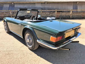 1971 triumph TR6 genuine UK RHD CP example+1 owner since 2000 SOLD