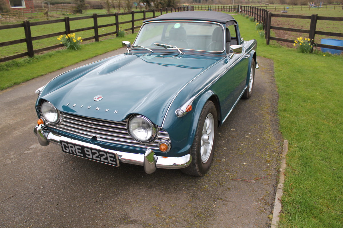 1967 Triumph TR4a with Surrey top SOLD   Car And Classic