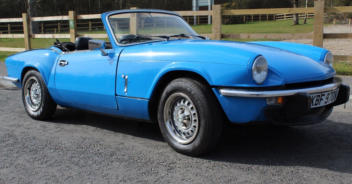 1980 Triumph Spitfire 1500 67,156 miles with 4 Owners SOLD (picture 1 of 6)