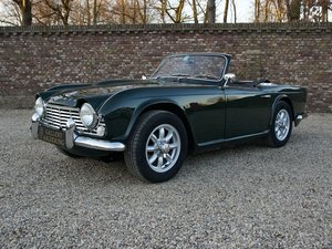 Triumph TR4 restored condition, only 2.947 mls after restora