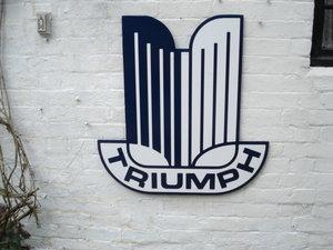 Triumph 2ft Garage wall sign