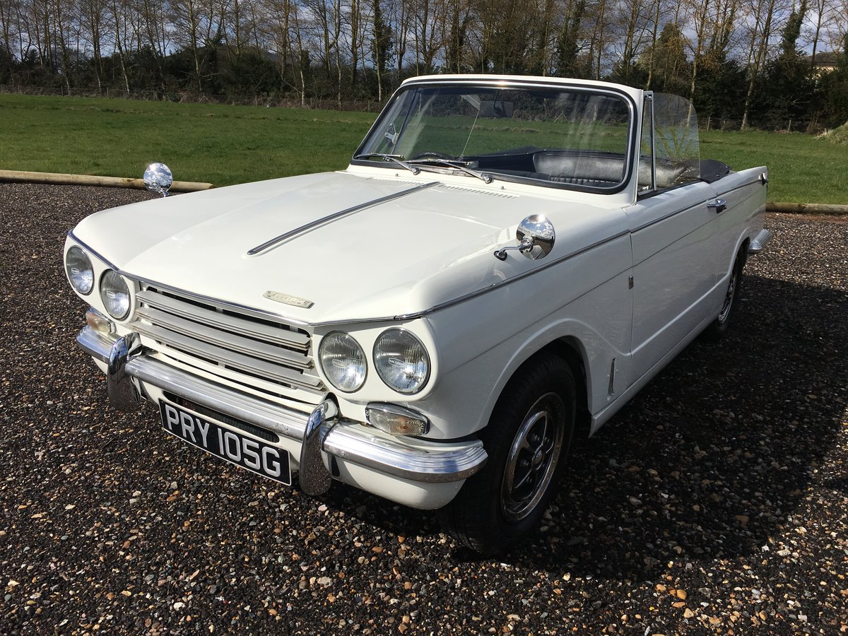 1968 Triumph Vitesse MkII convertible with overdrive. SOLD (picture 1 of 6)