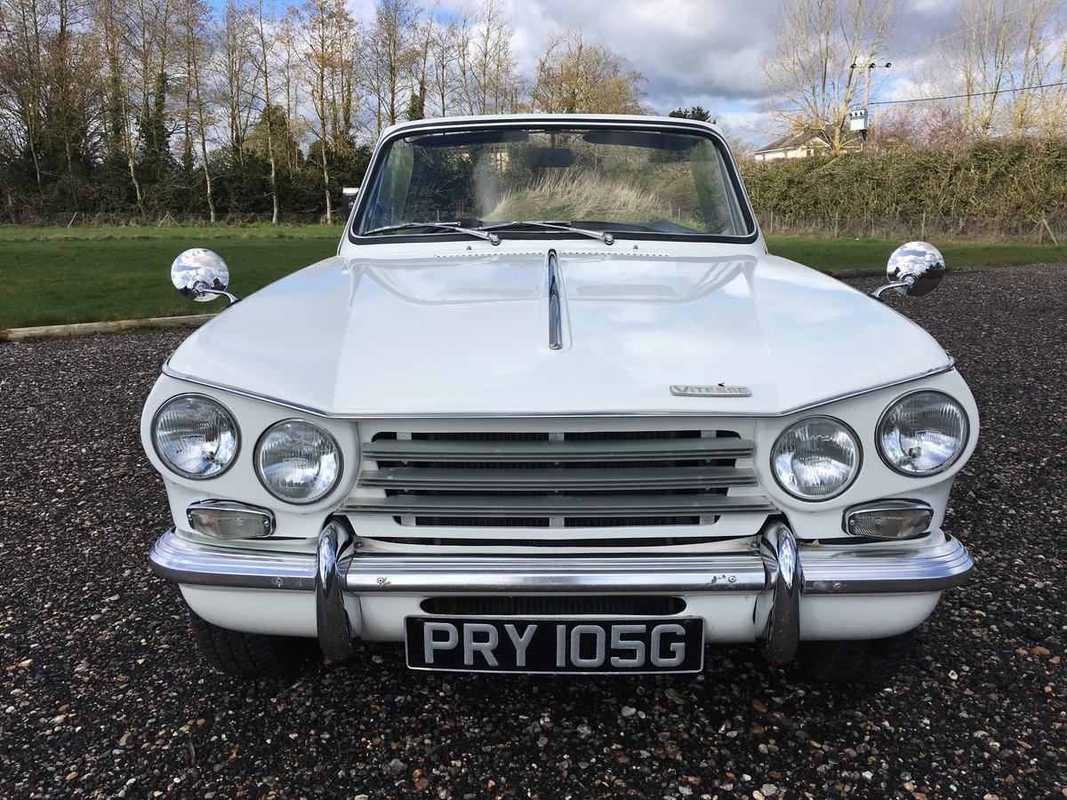 1968 Triumph Vitesse MkII convertible with overdrive. SOLD (picture 2 of 6)