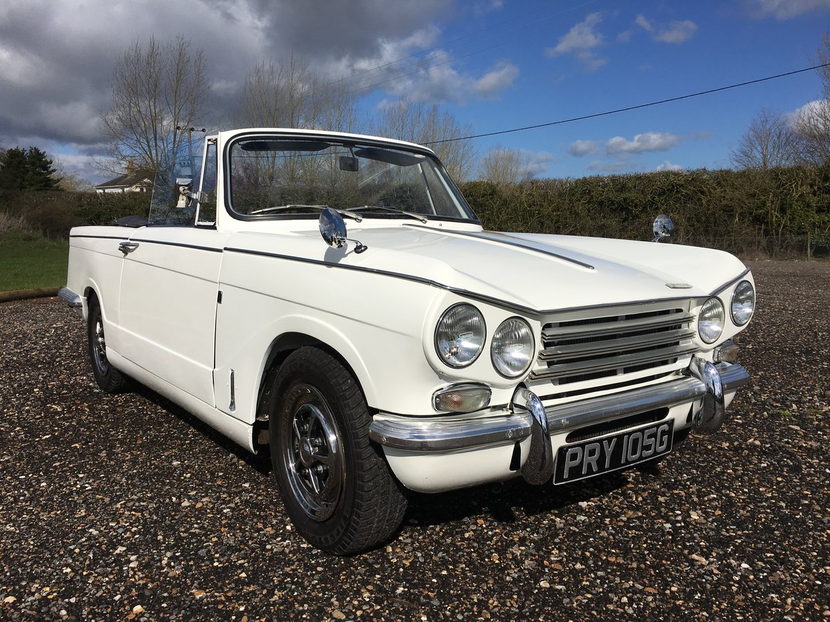 1968 Triumph Vitesse MkII convertible with overdrive. SOLD (picture 3 of 6)