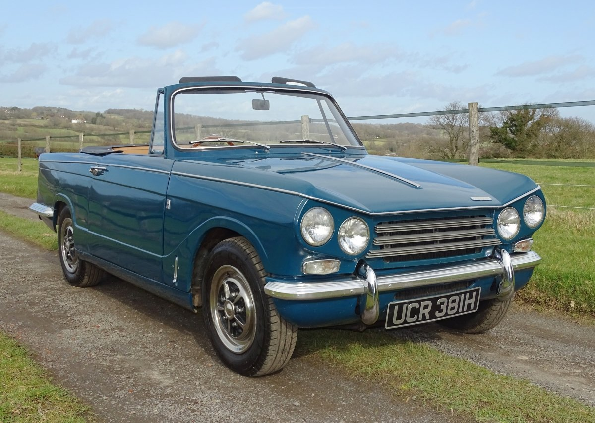 1970 Lovely Mk2 Triumph Vitesse convertible,O/D,Heritage cert. SOLD (picture 1 of 6)