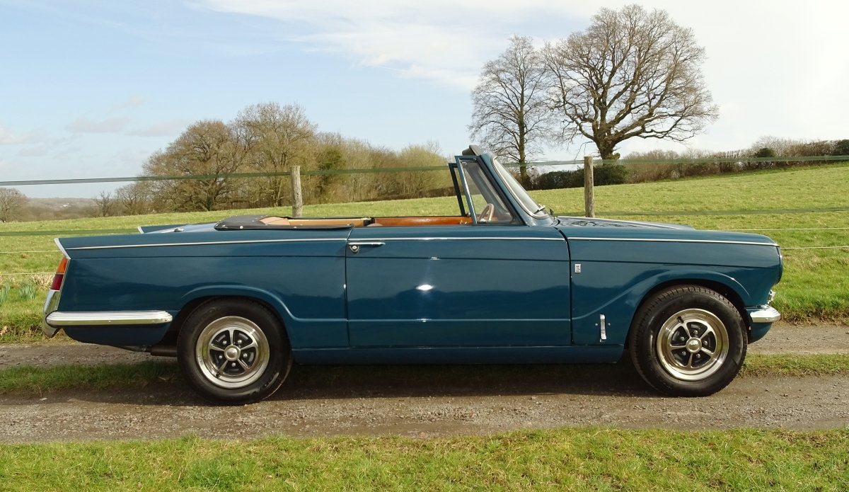 1970 Lovely Mk2 Triumph Vitesse convertible,O/D,Heritage cert. SOLD (picture 2 of 6)