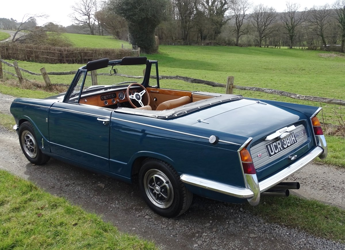 1970 Lovely Mk2 Triumph Vitesse convertible,O/D,Heritage cert. SOLD (picture 3 of 6)