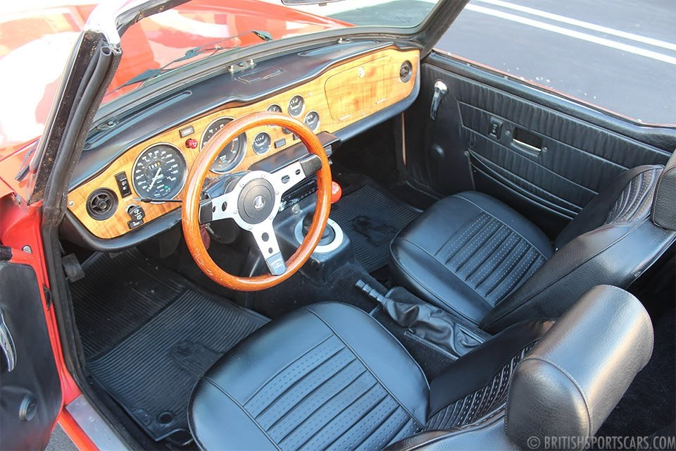 1974 Triumph TR6 Roadster = Restored Red(~)Black $18.5k For Sale (picture 4 of 6)