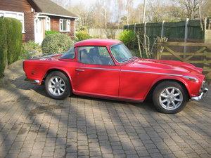 Original english 1968 red tr5 surrey top.
