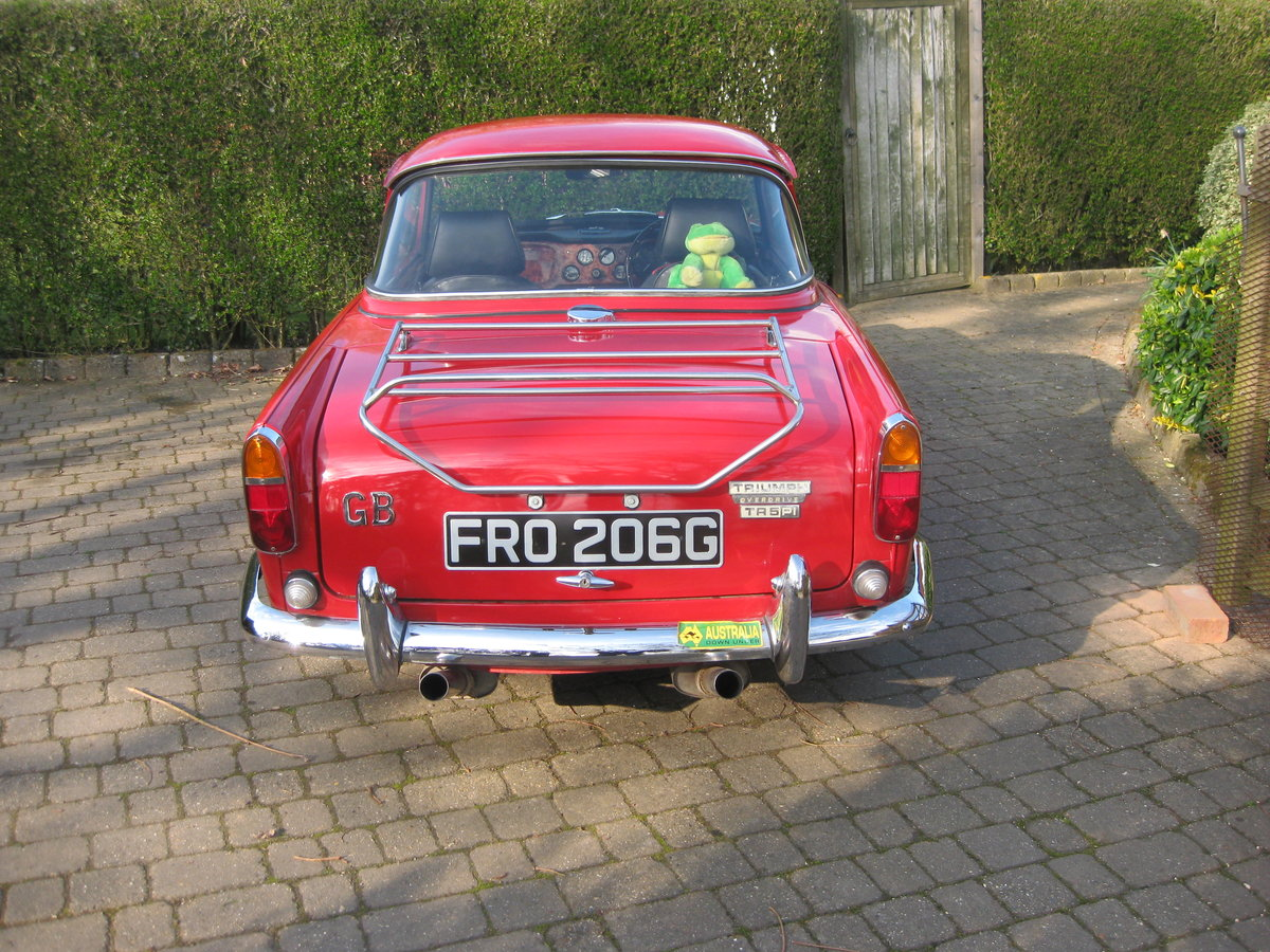 Original english 1968 red tr5 surrey top. For Sale (picture 5 of 6)